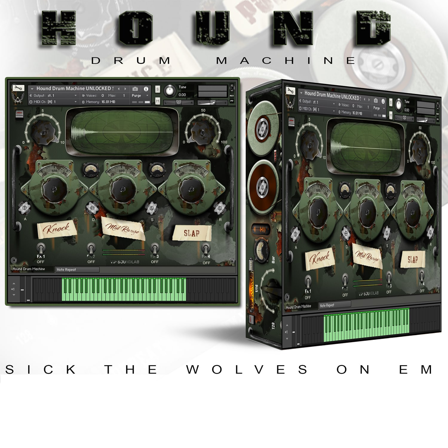 VIP SOUNDLAB Hound Drum Machine Kontakt 5
